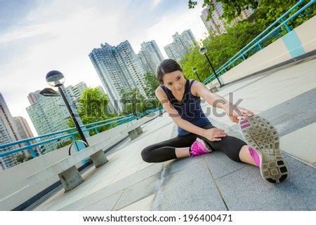 Exercise woman stretch - stock photo