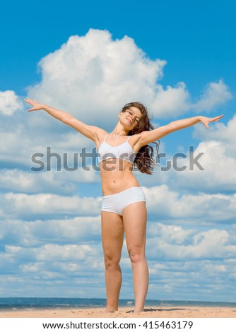 Exercising Beauty Woman  - stock photo