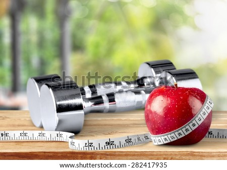 Exercising, Weights, Sport. - stock photo