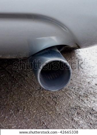 Exhaust - stock photo