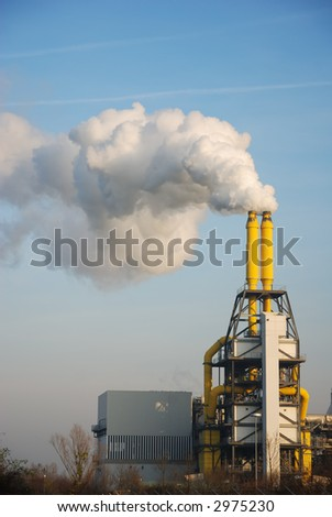 exhaust of incineration plant