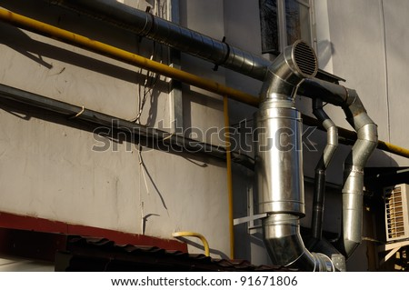 Exhaust Ventilation Pipe on Building