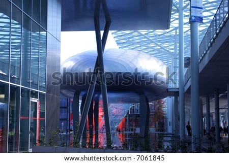 Exhibition area - stock photo