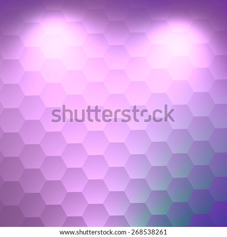 Exhibition Concept. Elegant White Illuminated Background. Abstract Blank Design. Creative Hexagon Image. Soft 3d Texture. Beautiful Light Art. Business Presentation Backgrounds. Bright Concept. - stock photo