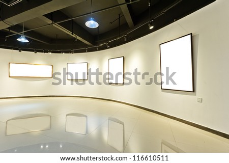 exhibition hall - stock photo