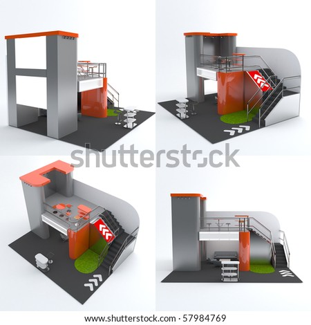 exhibition stand - stock photo