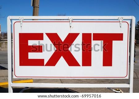 EXIT - stock photo