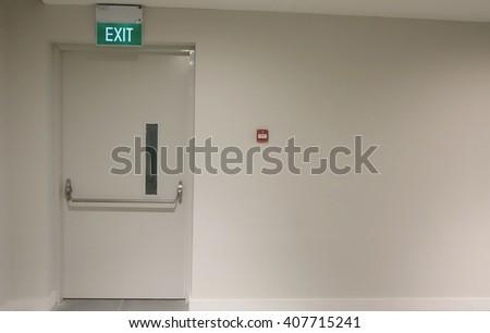Exit door way out - stock photo