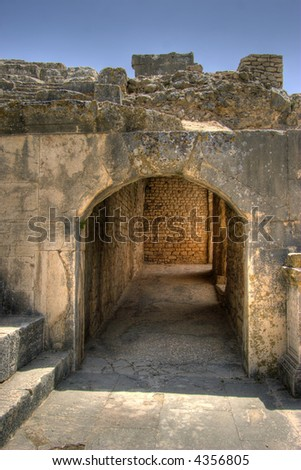 Exit Entrance to the roman theatre at Dougga Tunisia