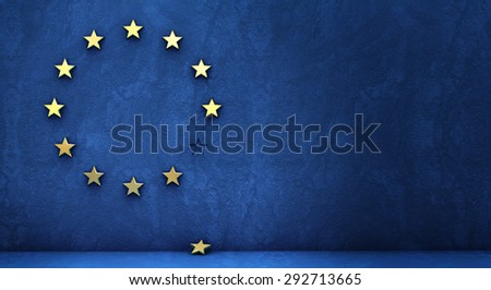 exit from the euro zone - stock photo