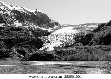 Exit Glacier, Kenai Fjords National Park, Alaska - stock photo