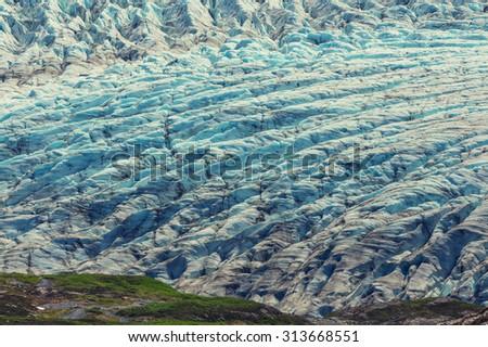Exit Glacier, Kenai Fjords National Park, Seward, Alaska - stock photo