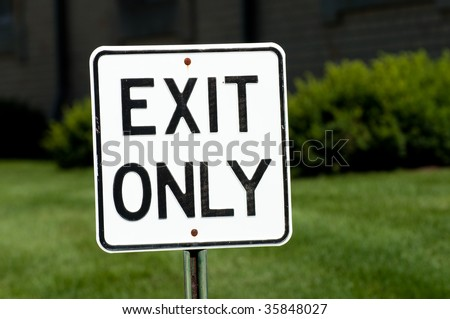 Exit Only Sign - stock photo