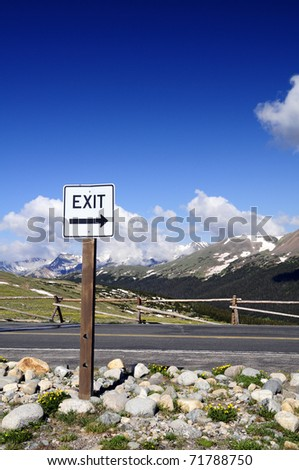 Exit Right - stock photo
