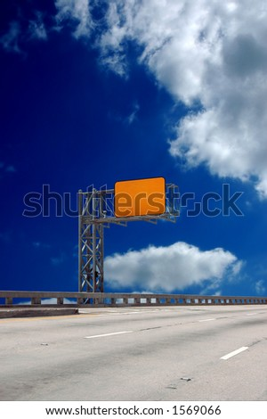 Exit sign - insert any message you want - stock photo