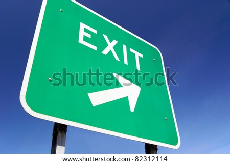 Exit traffic sign - stock photo