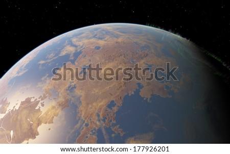 Exoplanet - stock photo