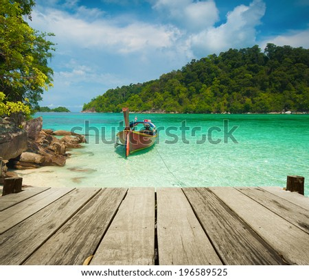 Exotic beach travel destination. Paradise island in Thailand. Thai tourism beauty landscape - stock photo