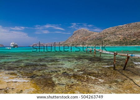 Exotic beaches - Gramvousa island/ Balos lagoon, Crete, Greece