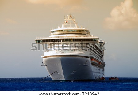 Exotic cruise ship - stock photo