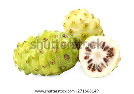 Exotic Fruit - Noni isolated on white background. - stock photo