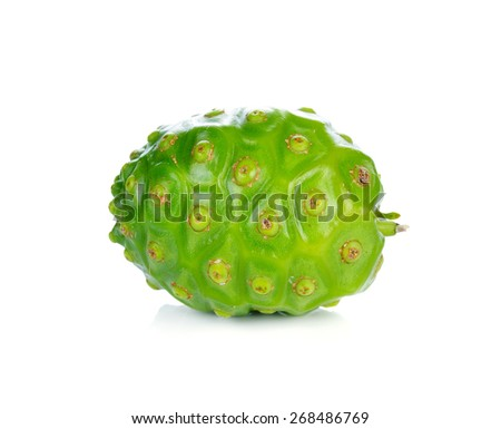 Exotic Fruit - Noni on white background - stock photo