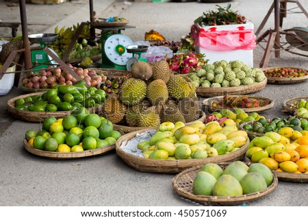 exotic fruits at the market