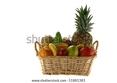 Exotic Fruits in Basket