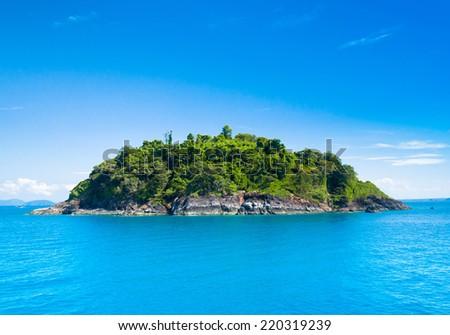 Exotic Getaway Desert Island  - stock photo