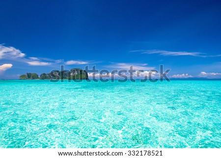 Exotic Getaway Heaven On Earth  - stock photo