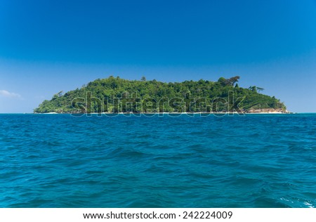 Exotic Getaway Idyllic Lagoon  - stock photo