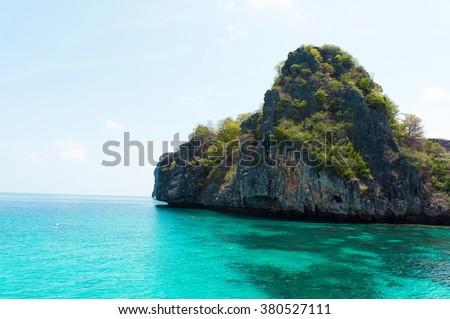 Exotic Getaway Nature And Nobody  - stock photo