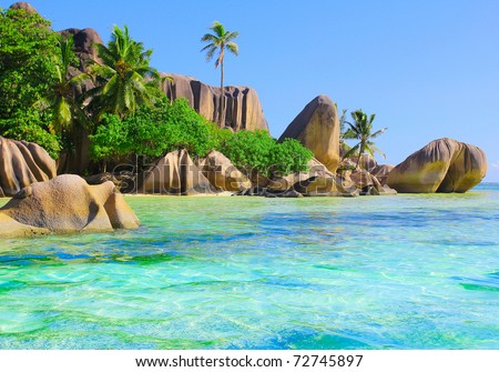 Exotic Getaway Ocean - stock photo