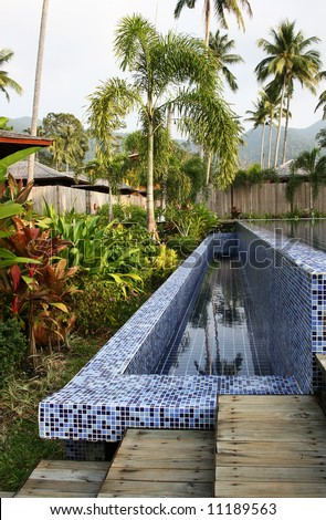 Exotic health and spa resort. Leisure and relaxation concept. - stock photo