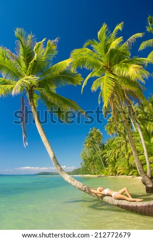 Exotic Hideaway Deserved Relaxation  - stock photo