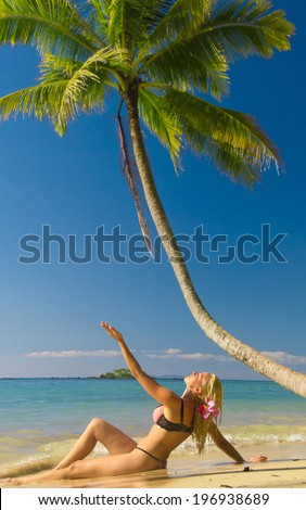 Exotic Hideaway In the Summer Sunshine  - stock photo