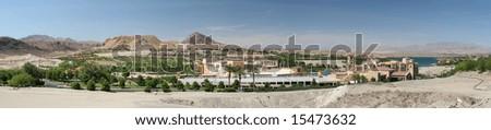 Exotic Las Vegas Desert Resort Development - stock photo