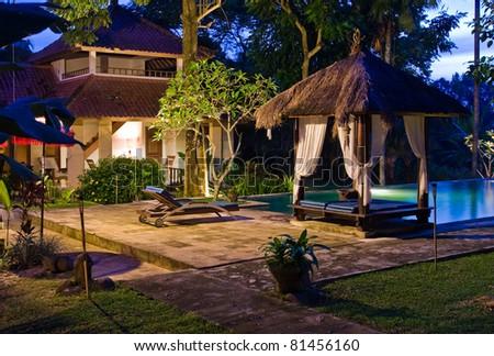 Exotic Resort In Lush Environment - stock photo