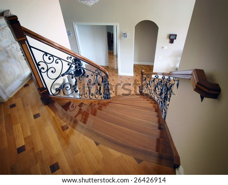 Exotic staircase - stock photo