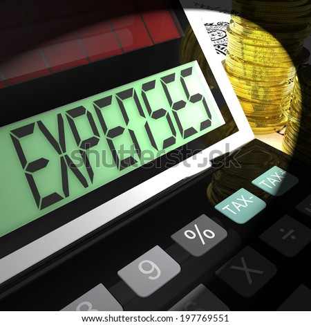 Expenses Calculated Meaning Company Costs And Accounting - stock photo