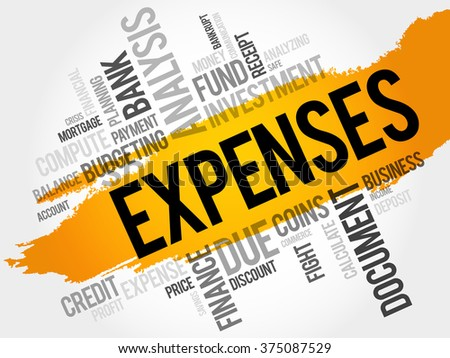 EXPENSES word cloud, business concept - stock photo