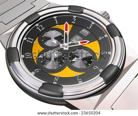 Expensive Automatic Watch on white path included
