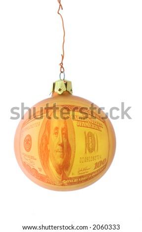 expensive christmas metaphor - stock photo