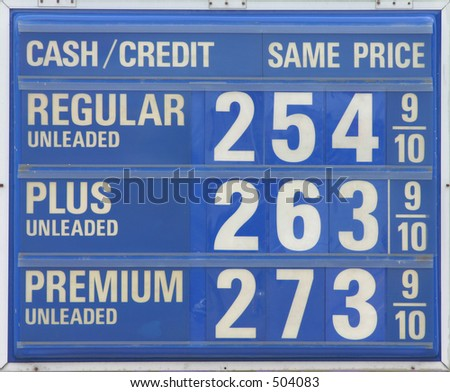 Expensive gas sign. - stock photo