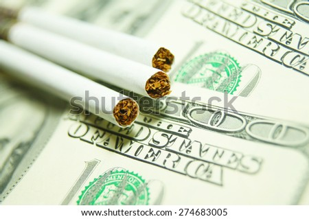 Expensive Habits Concept - stock photo