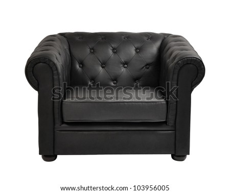 expensive leather arm chair - stock photo