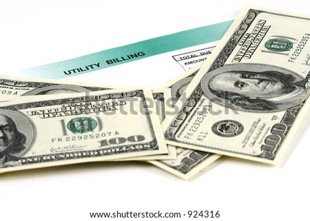 Expensive utility bill - stock photo