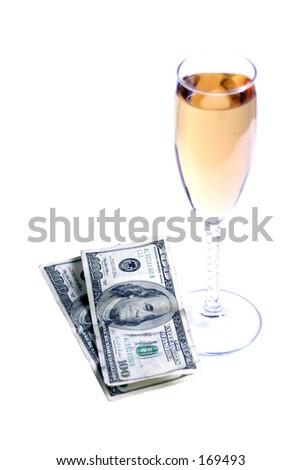 expensive wine - stock photo