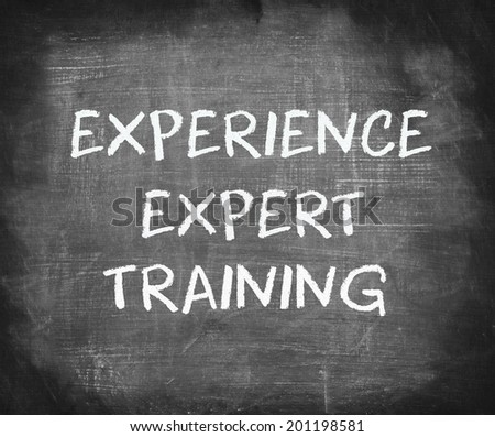 Experience Expert Training - stock photo