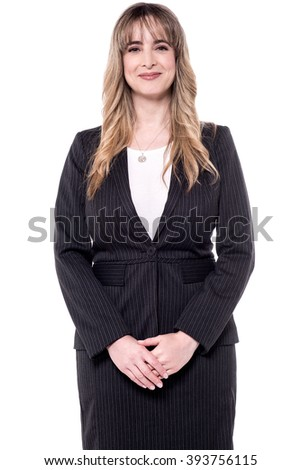 Experienced business woman posing - stock photo